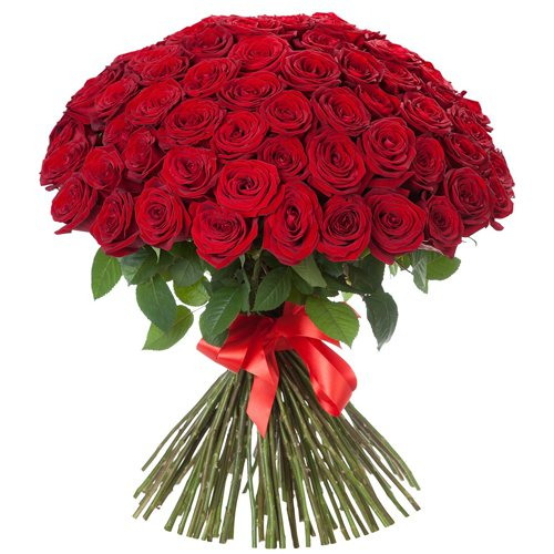Букет красных роз (60 см)