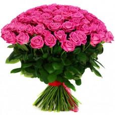 Красивый букет розовых роз (60 см)