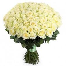 Роза белая длинная (60 см)